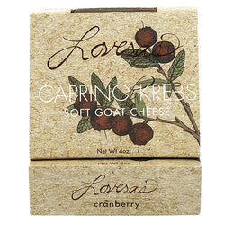 Cranberry Caprino di Krebs (Soft Goat Cheese) - 4 oz