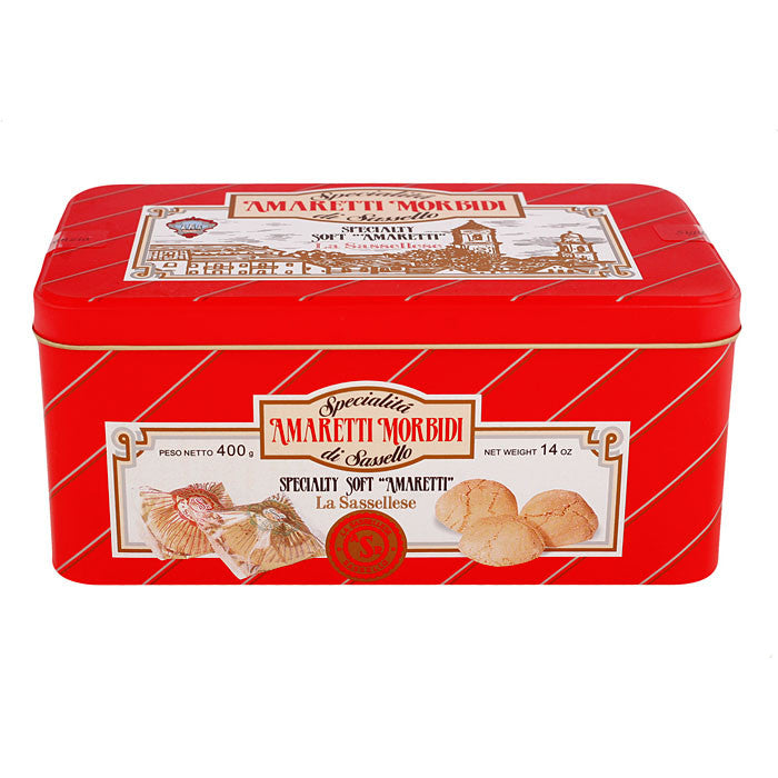 Soft Amaretti Cookies Decorative Tin - 14oz