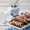 Sicilian Cannoli Kit with Shells, Cream Filling, and Amarena Cherries | Set of 4