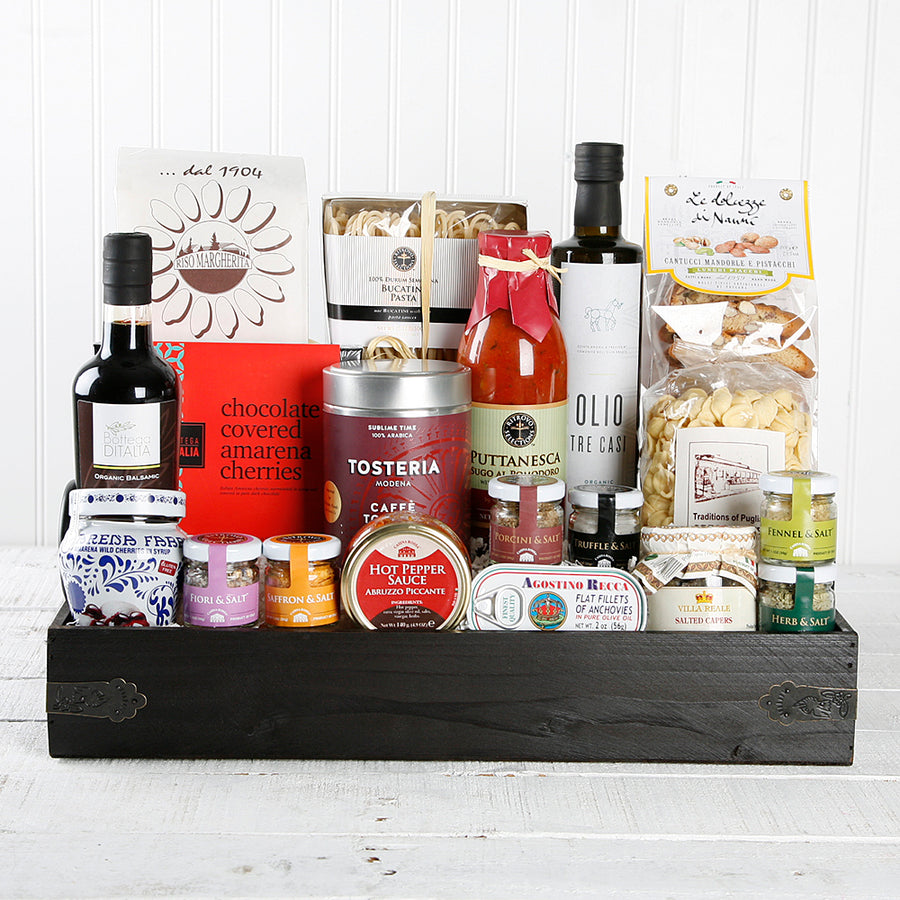 Italian gift baskets and gift boxes ditalia fine italian imports italian pantry gift basket set of 19 negle Choice Image