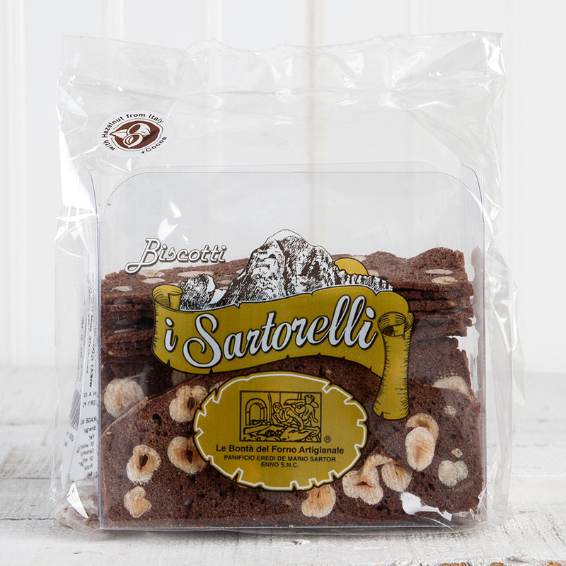 Fette Dolci Crispy Cookies with Chocolate and Hazelnuts - 6 oz
