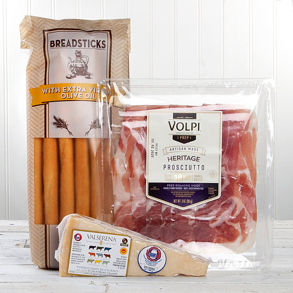 Volpi Heritage Prosciutto and Parmigiano Sampler | Set of 3
