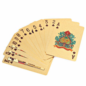 24k Gold Foil Playing Cards
