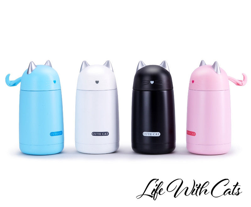Home Decor - Cat Thermocup  (330 ml Cute)