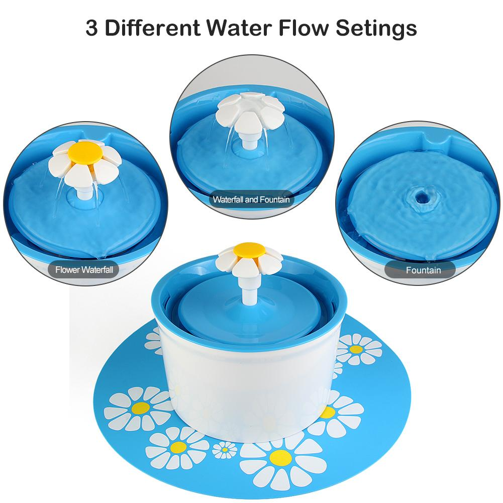 Automatic Drinking Fountain (1.6L) - Flower Style