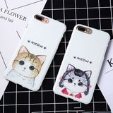 Phonecases - 'Cartoon Cat For iPhone 7, 6, 6S Plus Soft Protector Shell'