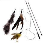 Toy - Stick with Feathers (3pcs)