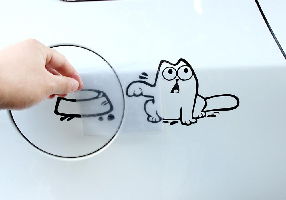 Cat sticker - Hungry Cat