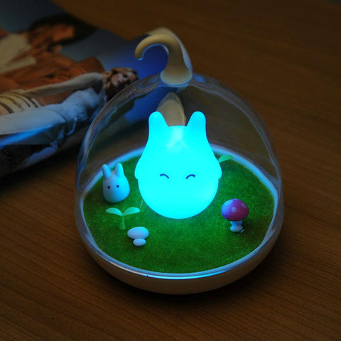 Totoro Blue LED Lamp - Glowing Bright At Night