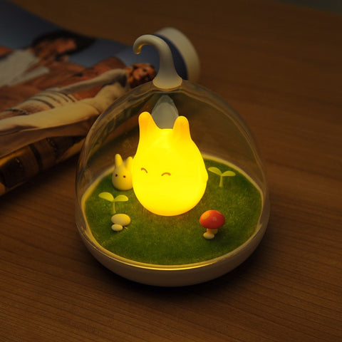 Totoro Orange LED Lamp - Glowing Bright At Night