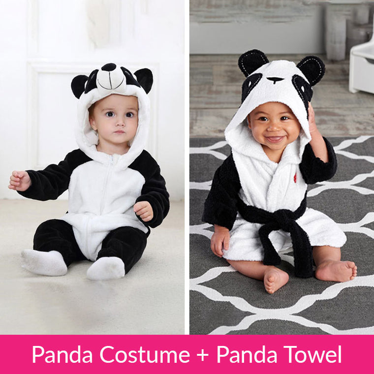 Unisex Baby Panda Costume Plush Jumpsuit  sc 1 st  Babies N Mamas & Buy Baby Animal Costumes Online At Lowest Price