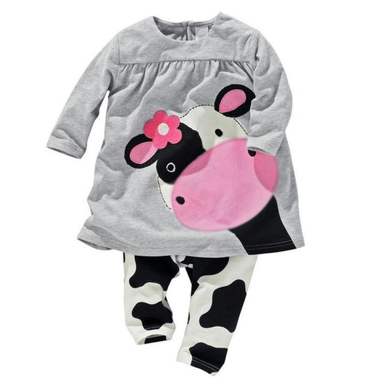 2 Piece Cow Print Baby Clothes