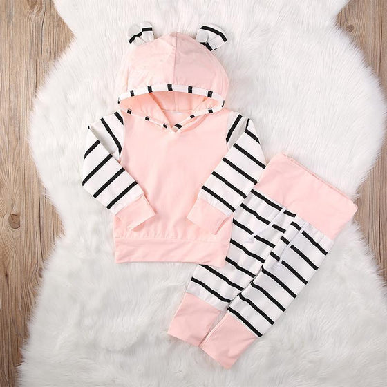 2 Piece Hooded Baby Clothes