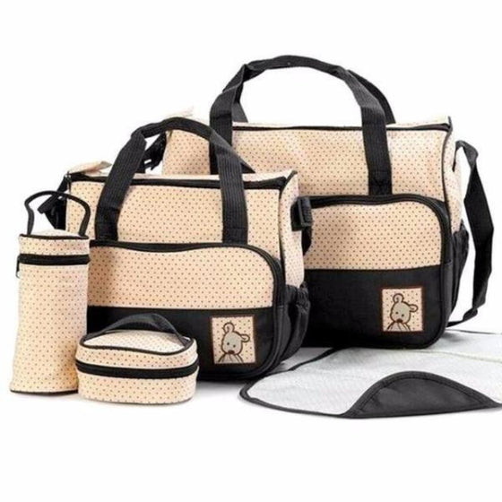 5 pieces Baby Diaper bag Set