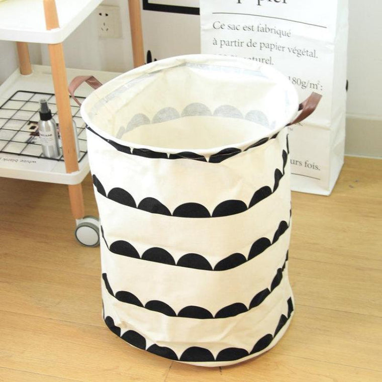 Abstract Waves Nursery Storage Laundry Basket