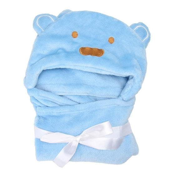 Animal Flannel Cartoon Kid's Hooded Bath Towel