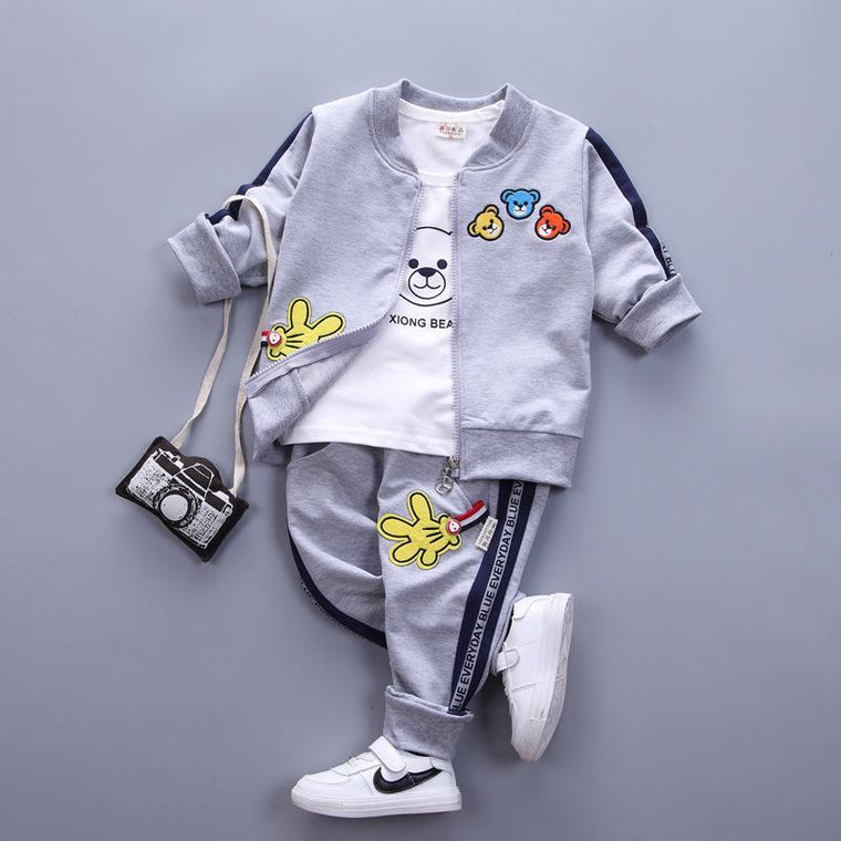 Baby White Stripes Urban Tracksuit