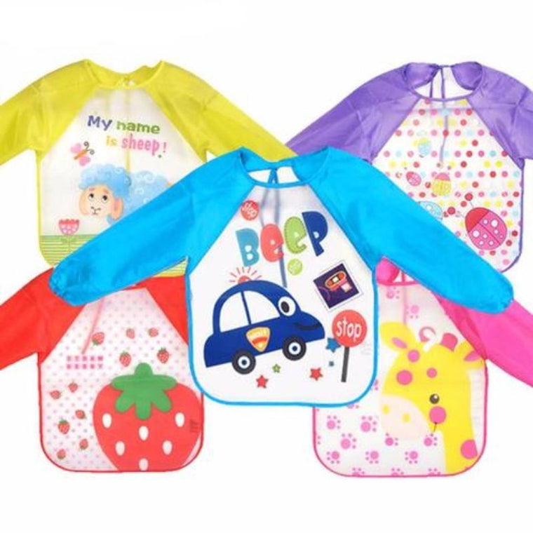 Baby Bib With Sleeves
