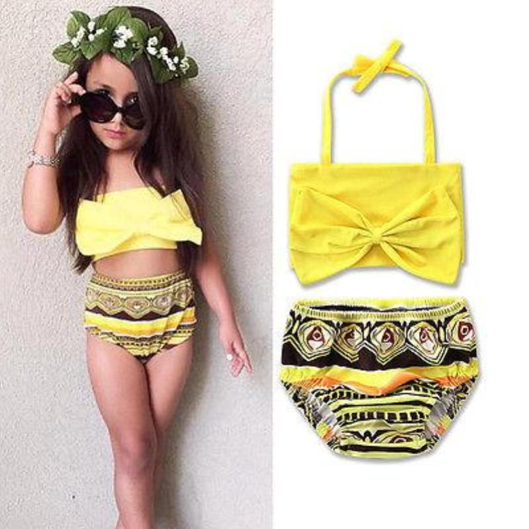 Bow knot Monikini Swimsuit