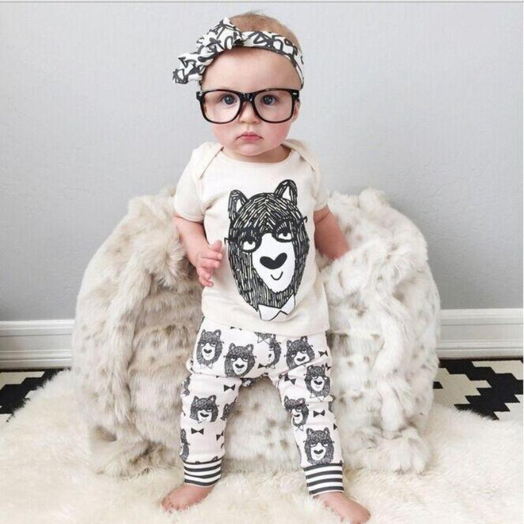 Cartoon Print Dress For Baby