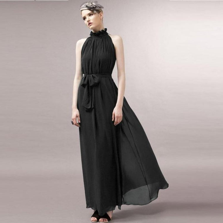 Chiffon Maxi Maternity Dress