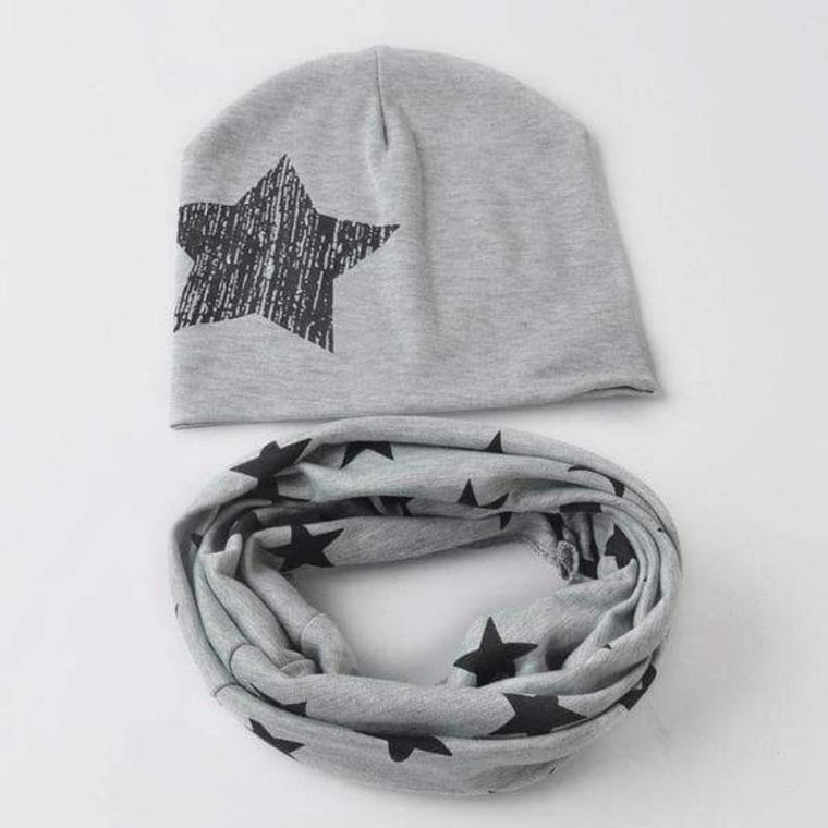 Cotton Beanie Hat Scarf Set