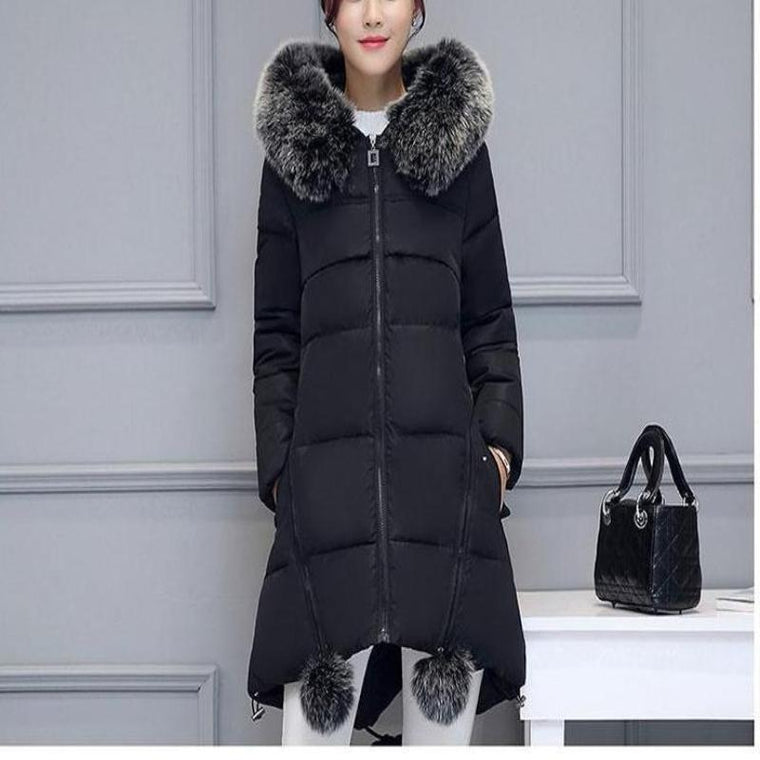 Fauz Fur Maternity Parka Coat