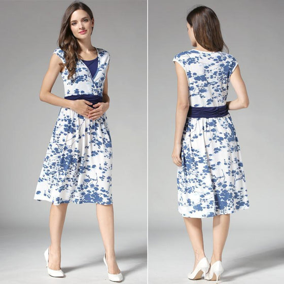 Floral Cocktail Maternity Dress
