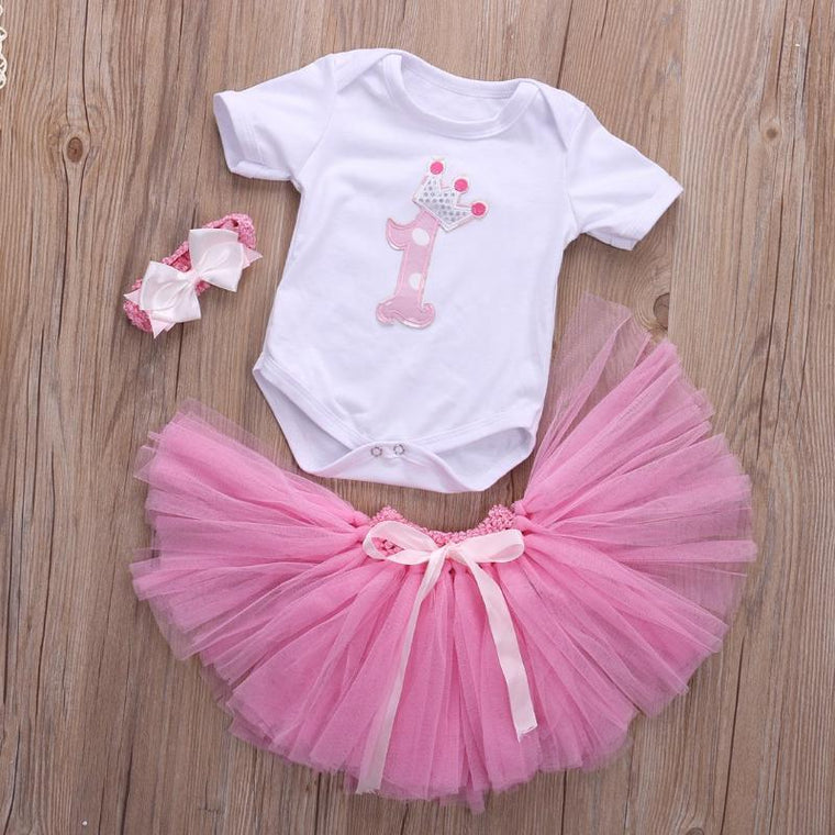 1st Birthday Tutu Frock Baby Girl Dress Ideal