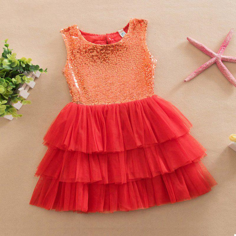 Baby Girls Sequined Bow Dress