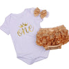 New Born Baby Girl Party Clothing Sets 1st Birthday Outfits Baby Body as Gift Bodysuit+Tutu Bloomers+Headband 3pcs Clothes Set