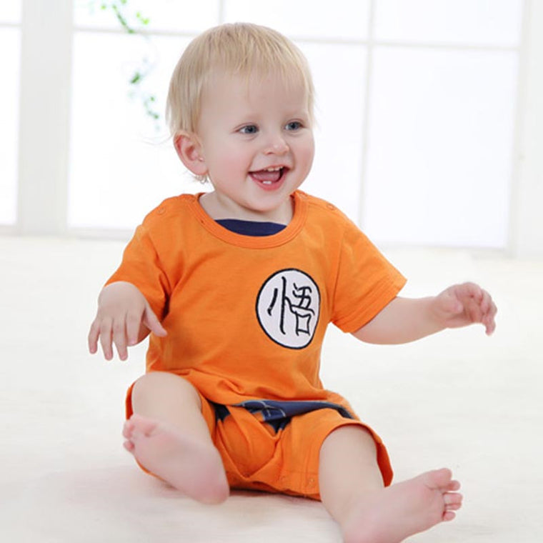 Orange Dragon Ball Z Goku Baby Romper