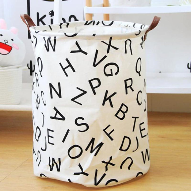 Lettered Nursery Storage Laundry Basket
