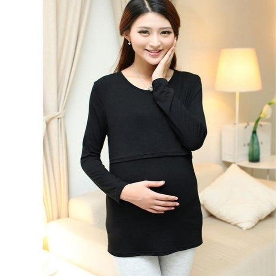 Long Sleeve Breastfeeding Top