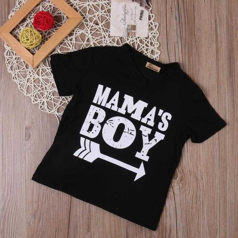 47bda85be 'Mama's Boy' Black T-shirt Baby Clothes