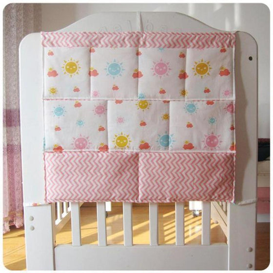 Sunny Day Cotton Baby Crib Nursery Organizer