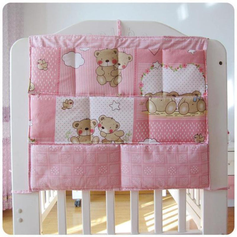 Teddy Bear Cotton Baby Crib Nursery Organizer