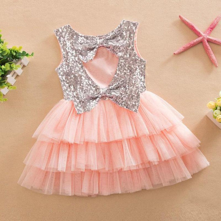 Toddler Sequin Frill Dress