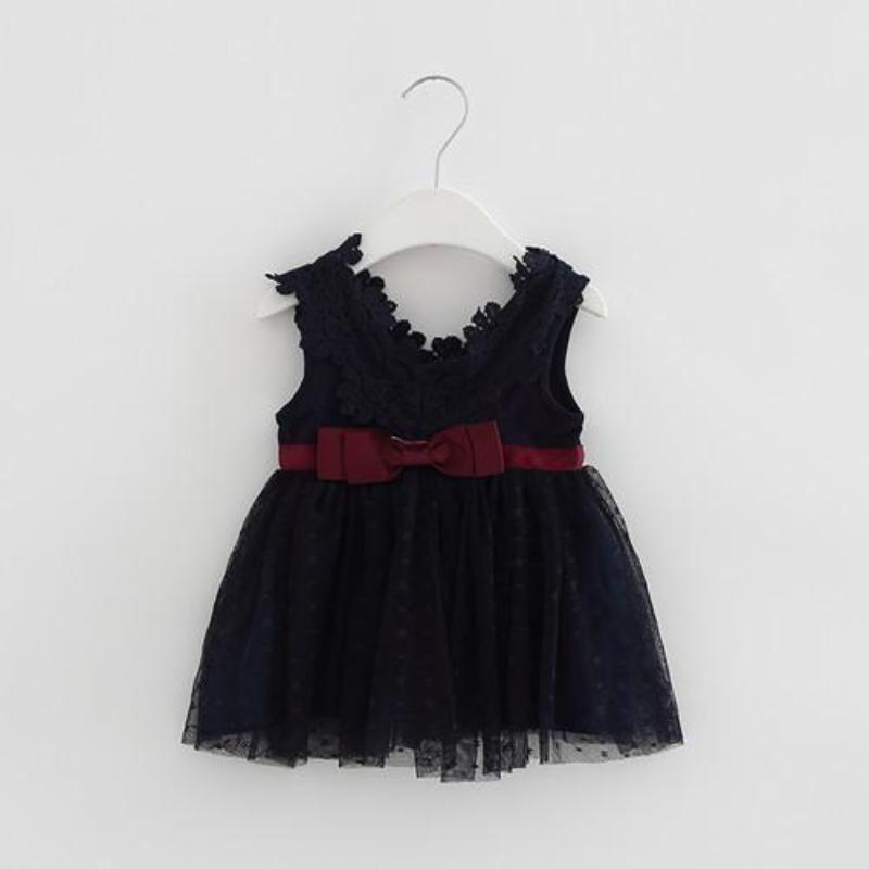 0d215e7c2 V-Neck Lace Frock for Baby Girls