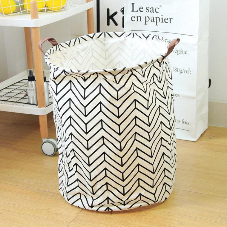 Vector Art Nursery Storage Laundry Basket