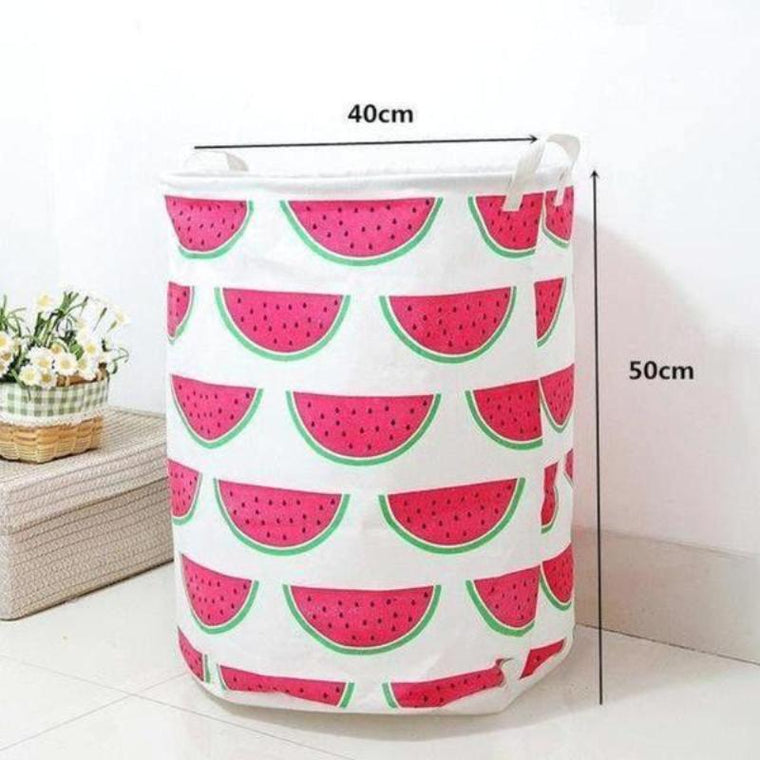 Watermelon Tower Nursery Storage Laundry Basket