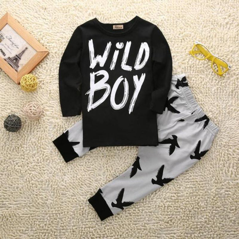 Wild Boy Printed Baby Cloth Set