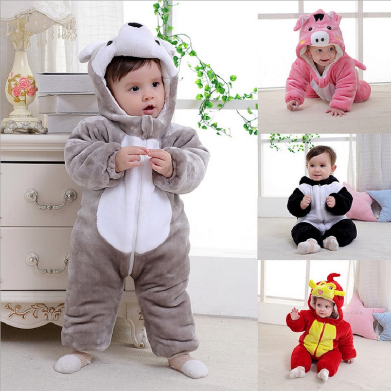 Cute Animal Costume Baby Rompers