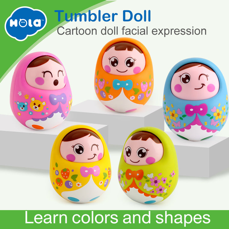 Musical Tumbler Doll Toy for Toddlers