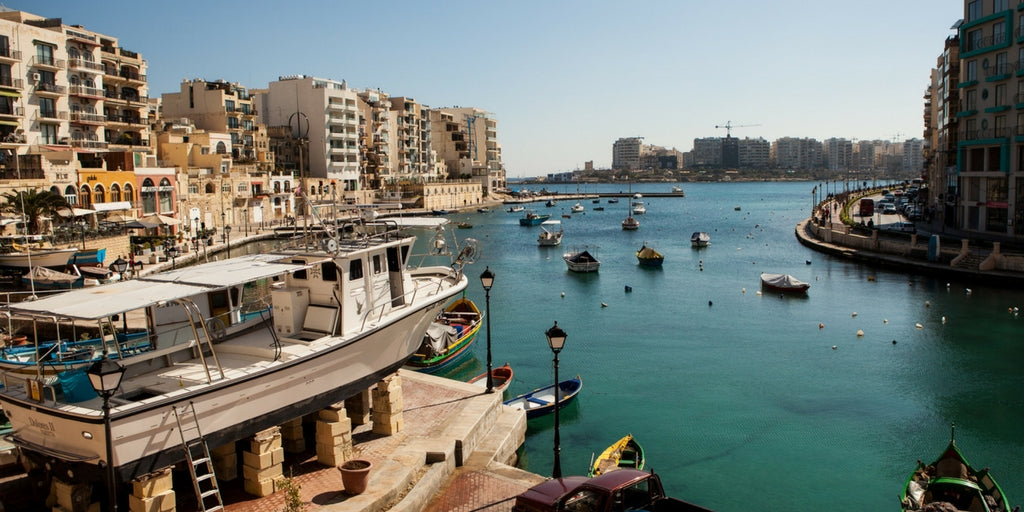 A view of the water from Sliema, Malta.