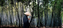Buddhist monk in bamboo forest, Kyoto, Japan. Limited edition print by Kerry Editions