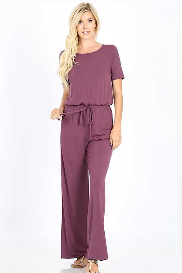 Ready For Anything Jumpsuit - Eggplant