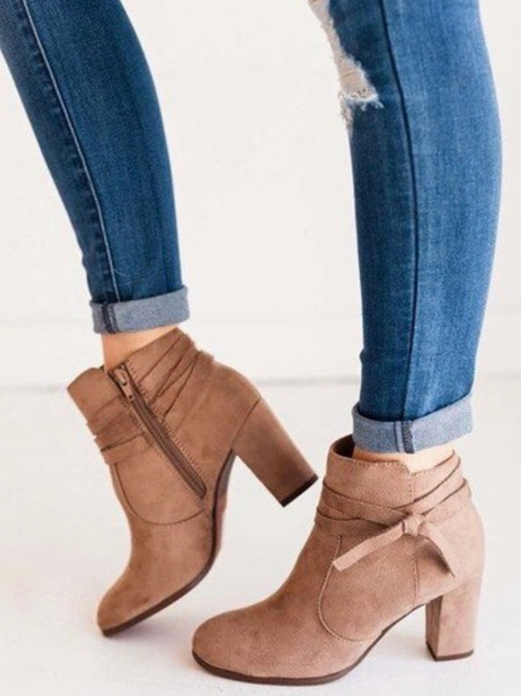 Little Debbie Taupe Bootie
