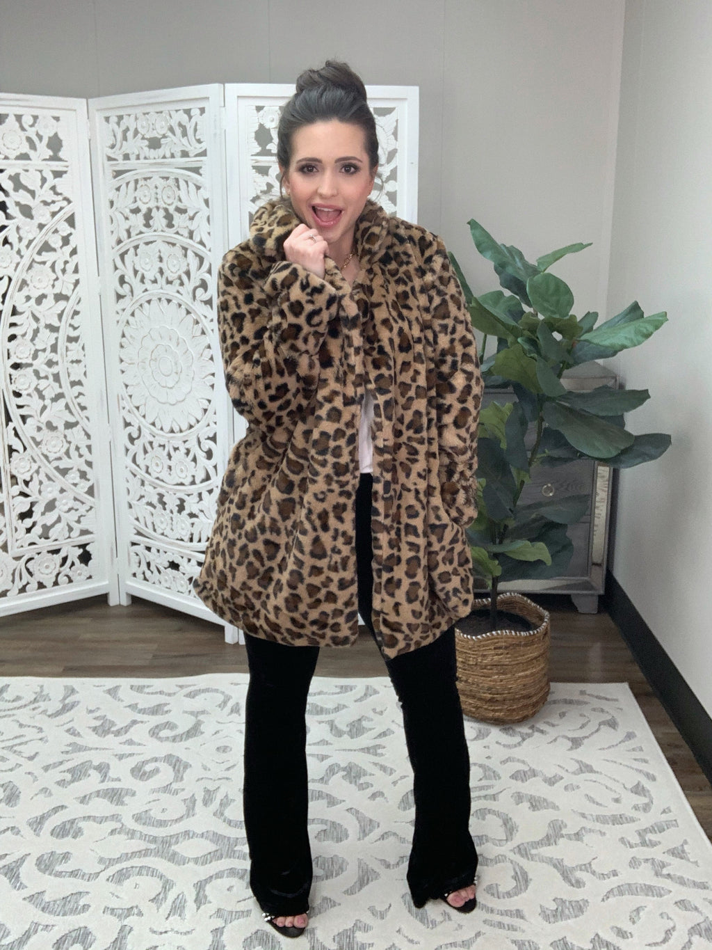Influencer Leopard Coat
