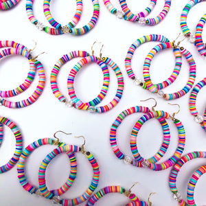Colorful Cara Hoops